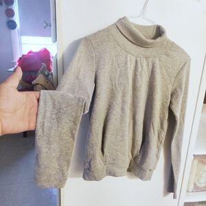 ALO Yoga Heather Gray Soft Turtleneck Sweater S